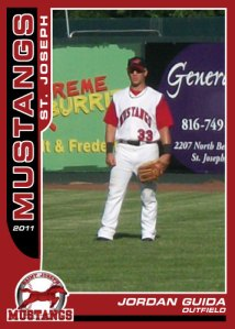 2011 Mustangs Jordan Guida custom card