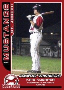 2011 Mustangs Kris Koerper Award Winners