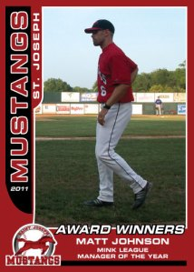 2011 Mustangs Matt Johnson Award Winners