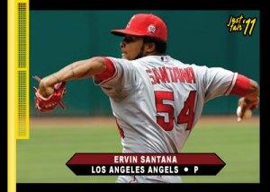 Angels Ervin Santana Just Fair 2011 custom card