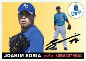 History Of Joakim Soria 1955 Topps custom card