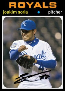 History Of Joakim Soria 1971 Topps custom card