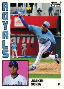History Of Joakim Soria 1984 Topps custom card