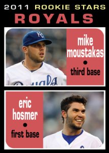 Eric Hosmer / Mike Moustakas 1971 Topps Rookie Stars custom card