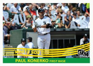 Paul Konerko 1984 Donruss custom card Paul-Star version