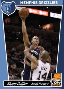 Shane Battier Jump Shot custom card