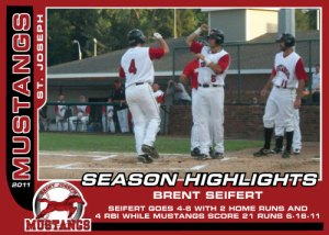 2011 Mustangs Brent Seifert Season Highlights