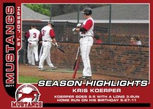 2011 Mustangs Kris Koerper Season Highlights
