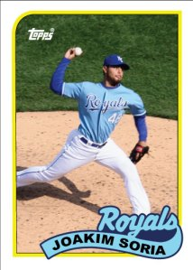 History Of Joakim Soria 1989 Topps custom card