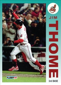 Jim Thome 1992 Fleer custom card