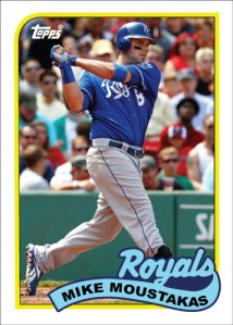 Mike Moustakas 1989 Topps custom card