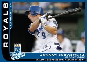 Major League Debut Johnny Giavotella cutom card