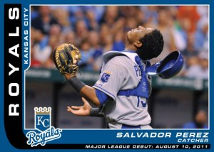 Major League Debut Salvador Perez Custom Card