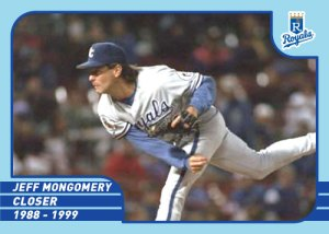 Royals Greats Jeff Montgomery custom card