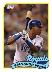 Salvador Perez 1989 Topps custom card