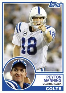 1983 Topps Peyton Manning custom card