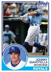 1983 Topps Royals Johnny Giavotella custom card