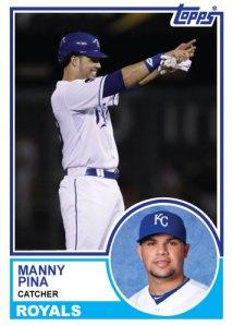 1983 Topps Royals Manny Pina custom card