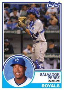 1983 Topps Royals Salvador Perez custom card