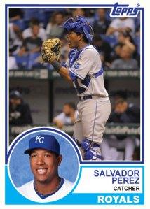 1983 Topps Royals Salvador Perez custom card