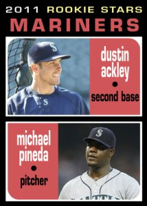 Dustin Ackley Michael Pineda 1971 Topps Rookie Stars