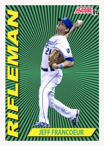 Jeff Francoeur 1991 Score Rifleman custom card