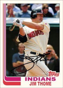 Jim Thome 1982 Topps custom card