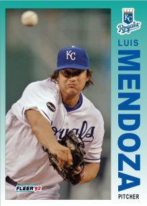 Luis Mendoza 1992 Fleer custom card