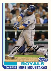 Mike Moustakas 1982 Topps custom card