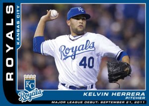 Major League Debut Kelvin Herrera custom card