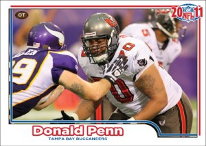 NFL 2011 Buccaneers Donald Penn custom card