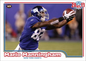 NFL 2011 Giants Mario Manningham custom card