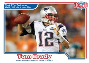 NFL 2011 Week 1 Tom Brady