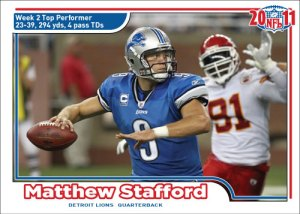 NFL 2011 Week 2 Matthew Stafford