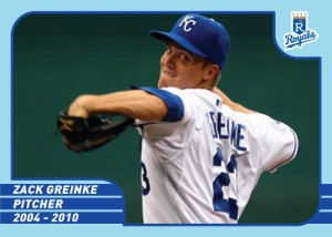 36 Royals Greats Zack Greinke cutom card