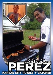 Salvador Perez BBQ Special custom card