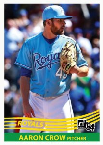 Aaron Crow 1984 Donruss Custom Card