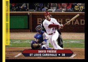 Cardinals David Freese Just Fair 2011 custom card