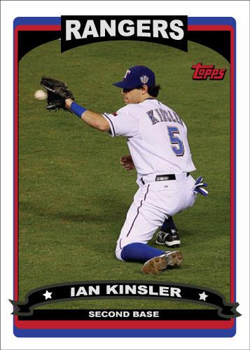 Ian Kinsler 2006 Topps Custom Card