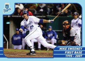 Royals Greats Mike Sweeney custom card