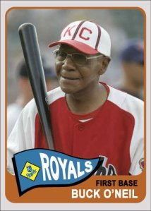 Buck O'Neil 1965 Topps custom card