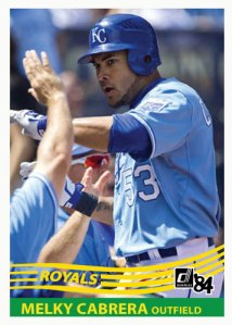 Melky Cabrera 1984 Donruss custom card
