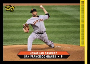 New Kansas City Royals Pitcher Jonathan Sanchez Just Fair custom card