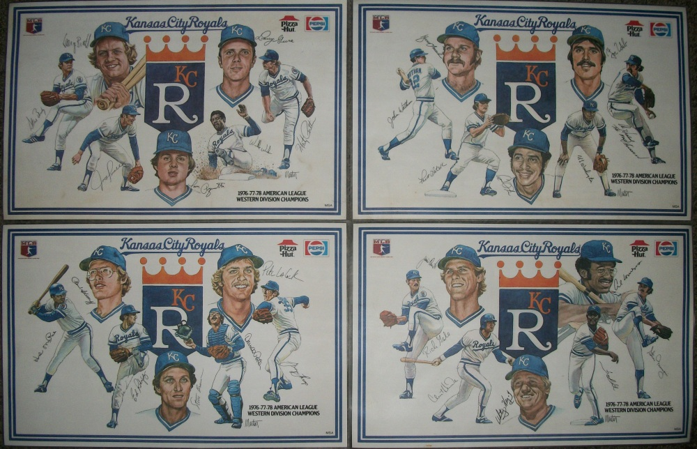 1970s Kansas City Royals placemats