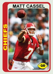Matt Cassel 1978 Topps custom card