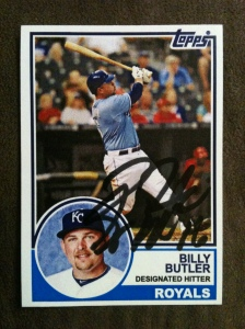 1983 Topps Billy Butler autographed custom card