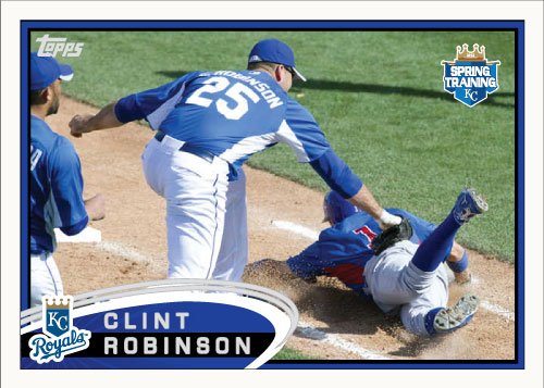 Clint Robinson 2012 Topps Spring Training custom card