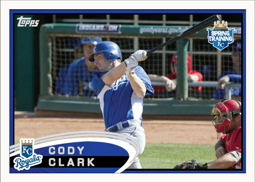 Cody Clark 2012 Spring Training custom card
