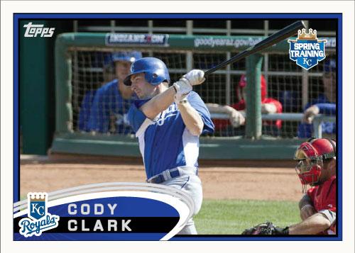 Cody Clark 2012 Spring Training custom card