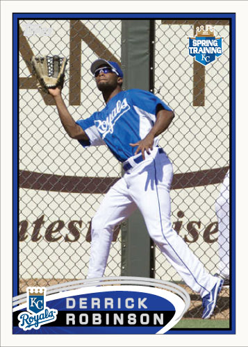 Derrick Robinson 2012 Spring Training custom card